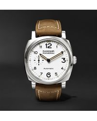 Officine Panerai - Radiomir 1940 3 Days Automatic Acciaio 42mm Stainless Steel And Leather Watch - Lyst