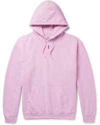 Sasquatchfabrix - Distressed Fleece-back Cotton-blend Jersey Hoodie - Lyst
