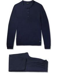 Ermenegildo Zegna - Stretch-modal Jersey Pyjama Set - Lyst