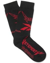 Vetements - + Reebok Logo-intarsia Stretch Cotton-blend Socks - Lyst
