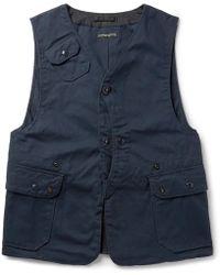 Engineered Garments - Upland Cotton-canvas Gilet - Lyst