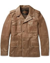 Tod's - Waxed-leather Jacket - Lyst