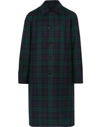 Burberry - Reversible Black Watch Checked Wool-twill Trench Coat - Lyst