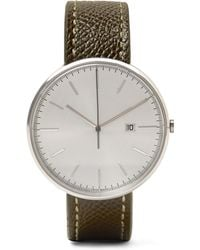Uniform Wares - M40 Stainless Steel And Pebble-grain Leather Watch - Lyst