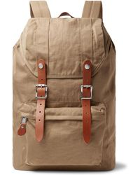 J.Crew - Harwick Leather-trimmed Nylon Backpack - Lyst