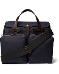 Filson | 24-hour Leather-trimmed Tin Cloth Briefcase | Lyst