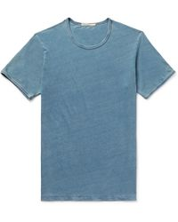 Nudie Jeans - Kurt Slim-fit Indigo-dyed Organic Cotton-jersey T-shirt - Lyst