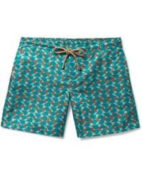 Thorsun - Titan Slim-fit Mid-length Printed Swim Shorts - Lyst