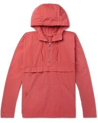 MR P. - Garment-dyed Cotton Hooded Jacket - Lyst