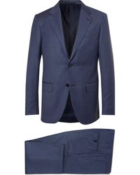 Ermenegildo Zegna - Navy Milano Easy Slim-fit Wool Suit - Lyst