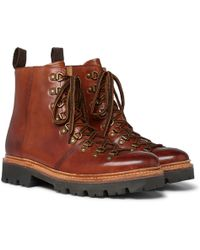 Grenson - Brady Polished-leather Boots - Lyst