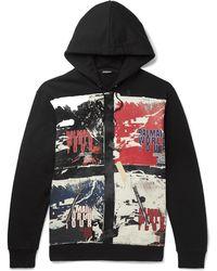 Balmain - Printed Loopback Cotton-jersey Hoodie - Lyst