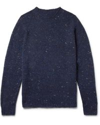 Anderson & Sheppard - Mélange Virgin Wool And Cashmere-blend Sweater - Lyst