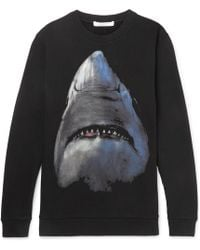 Givenchy - Shark-print Fleece-back Cotton-jersey Sweatshirt - Lyst