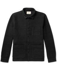 Folk - Textured Cotton-jersey Jacket - Lyst