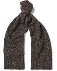 Anderson & Sheppard - Donegal Virgin Wool And Cashmere-blend Scarf - Lyst