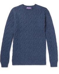 Ralph Lauren Purple Label - Cable-knit Cashmere Sweater - Lyst