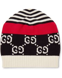 Gucci Angry Cat Intarsia Wool Beanie in Black for Men - Lyst 0284d35f34c5