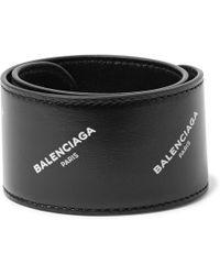 Balenciaga | Printed Leather Snap Bracelet | Lyst