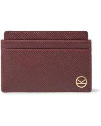 Kingsman - + Smythson Cross-grain Leather Cardholder - Lyst