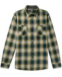 RRL - Checked Cotton-blend Shirt - Lyst