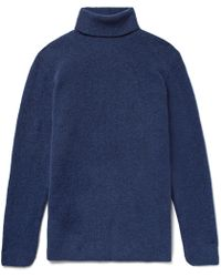 SALLE PRIVÉE - Aiden Slim-fit Mélange Merino Wool-blend Rollneck Sweater - Lyst