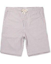 Oliver Spencer - Striped Cotton Pyjama Shorts - Lyst
