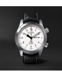 Bremont - Mb Ii 43mm Stainless Steel And Leather Watch - Lyst