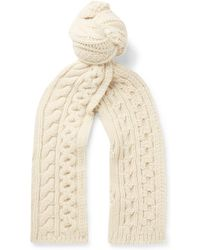 Brioni - Cable-knit Camel Hair Scarf - Lyst