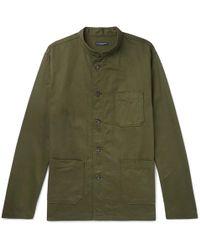 Engineered Garments - Dayton Mandarin-collar Cotton-twill Shirt - Lyst