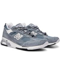 New Balance - 9915v1 Suede And Mesh Sneakers - Lyst