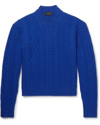 Burberry - Aran-knit Wool And Cashmere-blend Jumper - Lyst