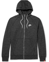 Nike - Legacy Mélange Loopback Cotton-jersey Zip-up Hoodie - Lyst