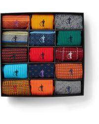 London Sock Co. - 15-pack Stretch Cotton-blend Socks - Lyst