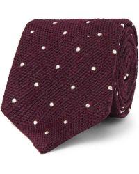 Drake's - 8cm Polka-dot Slub Silk Tie - Lyst