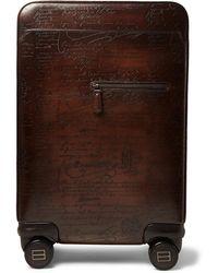 Berluti - Formula 1004 Scritto Leather Rolling Suitcase - Lyst