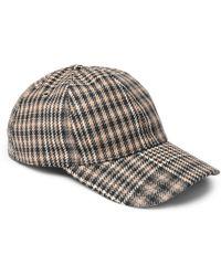AMI - Prince Of Wales Checked Virgin Wool Baseball Cap - Lyst