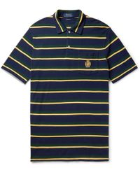 Polo Ralph Lauren - Logo-embroidered Striped Cotton-piqué Polo Shirt - Lyst