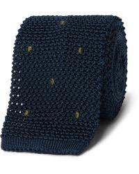 Boglioli - 6cm Embroidered Knitted Silk Tie - Lyst