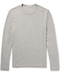 James Perse - Combed Cotton-jersey T-shirt - Lyst