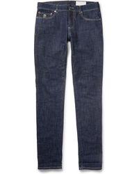 Brunello Cucinelli - Slim-fit Lightweight Dry-denim Jeans - Lyst