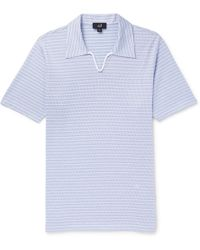Dunhill - Striped Cotton Polo Shirt - Lyst