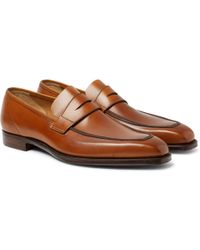 George Cleverley - George Burnished-leather Penny Loafers - Lyst