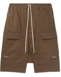 Rick Owens - Pod Waxed Linen-blend Twill Cargo Shorts - Lyst