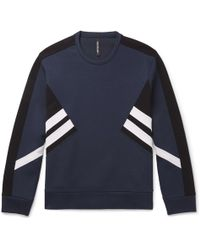 Neil Barrett - Striped Stretch-jersey Sweatshirt - Lyst