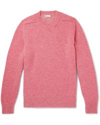 CONNOLLY - Mélange Shetland Wool And Cashmere-blend Jumper - Lyst
