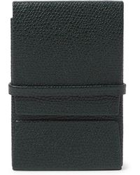 Valextra - Pebble-grain Leather Business Card Holder - Lyst