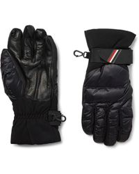 Moncler Grenoble - Panelled Leather And Quilted-shell Down Ski Gloves - Lyst