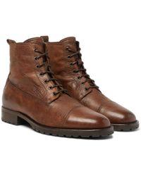 Belstaff - Alperton 2.0 Burnished-leather Boots - Lyst