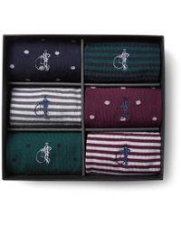 London Sock Co. - Simply Sartorial Six-pack Stretch Wool-blend Socks - Lyst